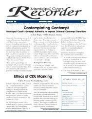 August 2006 - Texas Municipal Courts Education Center