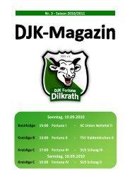 Tabelle Kreisliga C 2010/2011 - Fortuna Dilkrath