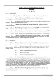 general provisions for fixed price contracts - NSPA - Nato