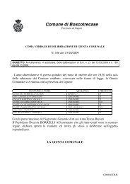 Delibera n° 166 - Comune di Boscotrecase