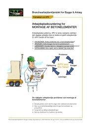 APV-skema for montage af betonelementer - BAR Bygge & Anlæg