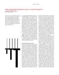 Studio epidemiologico di popolazioni esposte a ... - ARPA Umbria