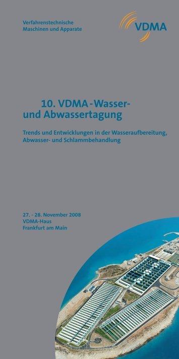 10. VDMA -Wasser- und Abwassertagung - PresseBox
