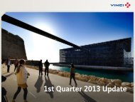 VINCI - 1st Quarter 2013 Update