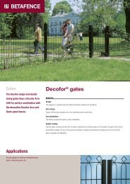 Decofor® gates - Fagel