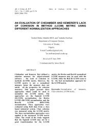 an evaluation of chidamber and kemerer's lack of cohesion in method