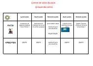 Planning Buisson groupe des petits - Franconville