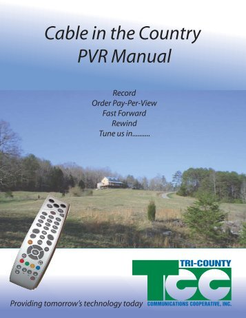 View/download PVR User Guide (pdf) - Midwest Video Solutions, LLC