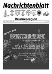 Nachrichtenblatt Brunnenregion KW23 2012 - Nussbaum Medien