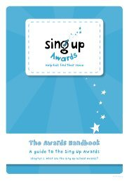 The Awards Handbook The Awards Handbook - Sing Up