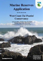 West Coast Marine Reserves Application Document - Department of ...