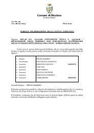 Delibera G.C.n.62 del 28.02.2013 approvazione elenco - Comune di ...
