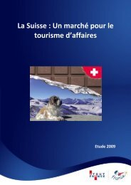 La Suisse : Un marché pour le tourisme d'affaires