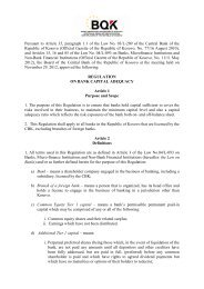 Regulation on Bank Capital Adequacy