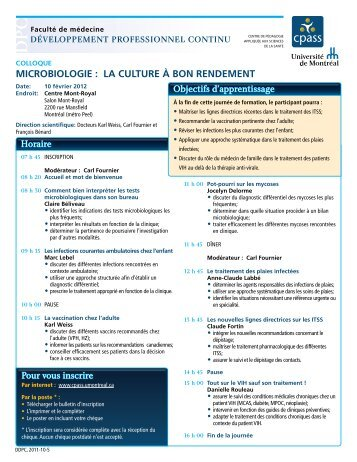 Programme - CPASS - Université de Montréal