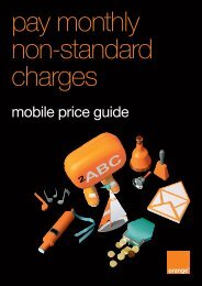 pay monthly non-standard charges - Orange