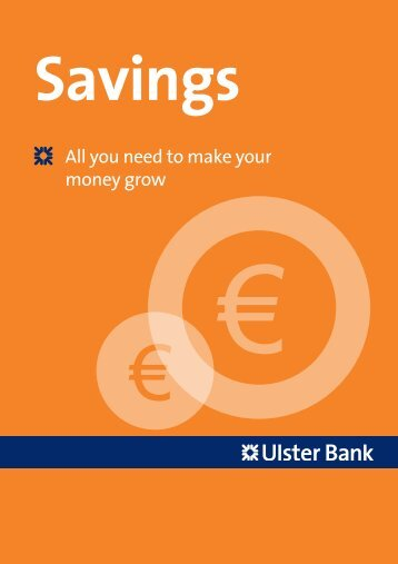 Savings and Financial Planning - Ulster Bank