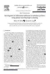 Investigation of differential diffusion in turbulent jet ... - Yale University