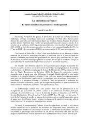 La probation en France - Mission de recherche Droit et Justice