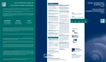 forum: international economic law foro de derecho económico ... - IE
