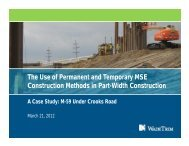 MSE Construction Methods in Part-Width Construction