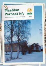Maatilan Parhaat info 5 / 2010 - Snellman