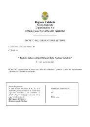 Decreto n. 1985 del 01/03/2010 - Regione Calabria - Dipartimento ...