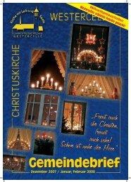 Ausgabe 2007/08: Dez / Jan / Febr - Kirchengemeinde Westercelle