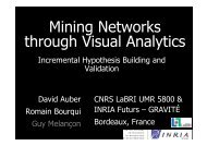Mining Data through Visual Analytics