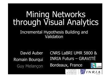 Mining Data through Visual Analytics