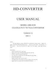 RGB/CGA/EGA to VGA Converter manual - Holland Computers, Inc.
