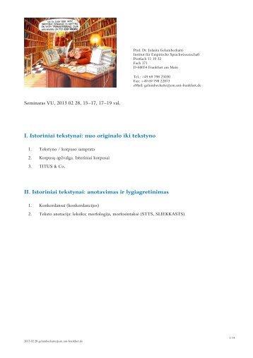 Antra paskaita (2013-02-28)