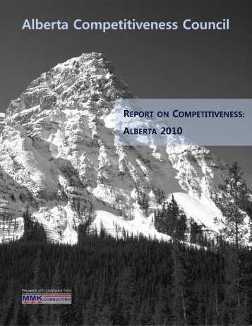 Report on Competitiveness: Alberta 2010 - Enterprise and ...