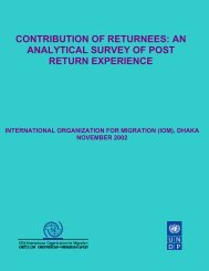 Contribution of Returnees - United Nations in Bangladesh