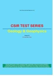 CSIR Test Series Geophysics Model Paper.pdf - developindiagroup ...