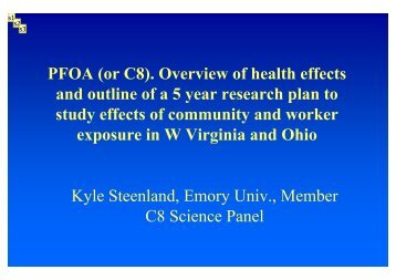 Studying the effects of PFOA contamination on the health of the ...