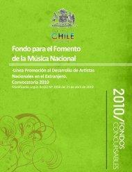 Fondo para el Fomento de la Música Nacional ·Línea Promoción al ...