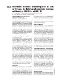 Differentielles schulisches Selbstkonzept-Gitter mit Skala zur ... - ZPID
