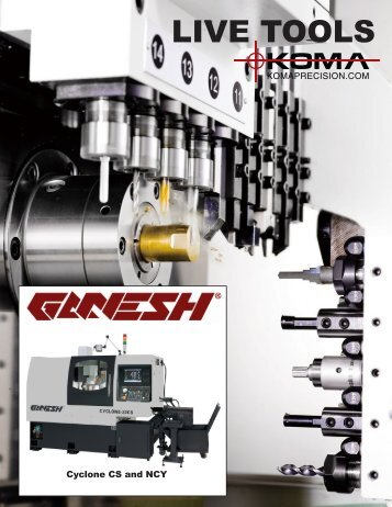 Ganesh Swiss Live Tools - Koma Precision, Inc.