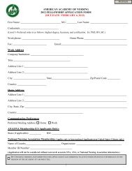 2012 Fellowship Application Checklist - American Academy of Nursing