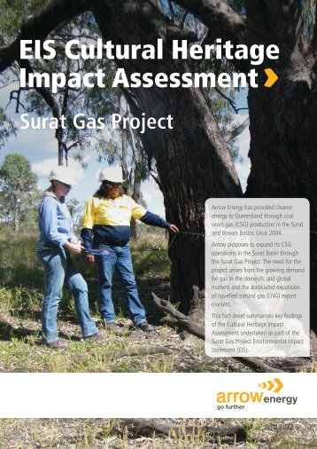 EIS Cultural Heritage Impact Assessment - Arrow Energy