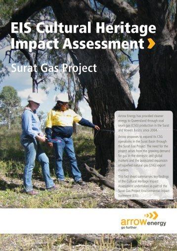 EIS Cultural Heritage Impact Assessment - Arrow Energy