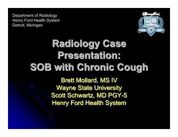 Radiology Case Presentation - Henry Ford Health System