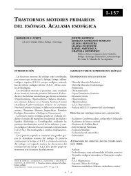 Trastornos motores primarios del esófago. Acalasia ... - sacd.org.ar
