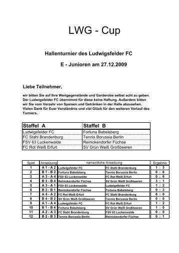 LWG-Cup der E - Junioren - Ludwigsfelder FC