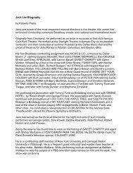 Jack Lee Biography by Roberta Prada Jack Lee - The HARBOR ...