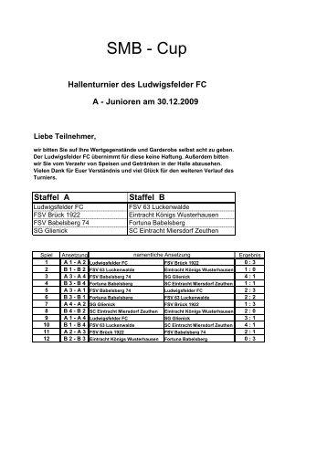 SMB-Cup der A - Junioren - Ludwigsfelder FC