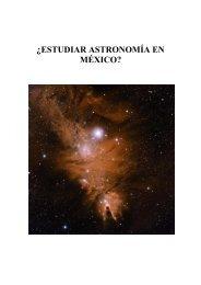 ESTUDIAR ASTRONOMÍA EN MÉXICO - Consulte su email