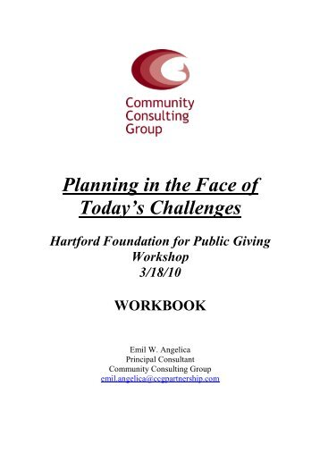 Planning in the Face of Today's Challenges - Hartford Foundation ...