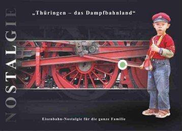 Broschüre Bahnnostalgie in Thüringen